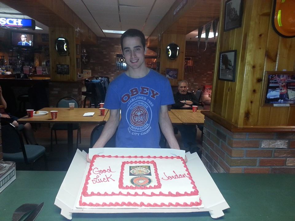 Selkirk FD Wishes FF Jordan Barach Good Luck