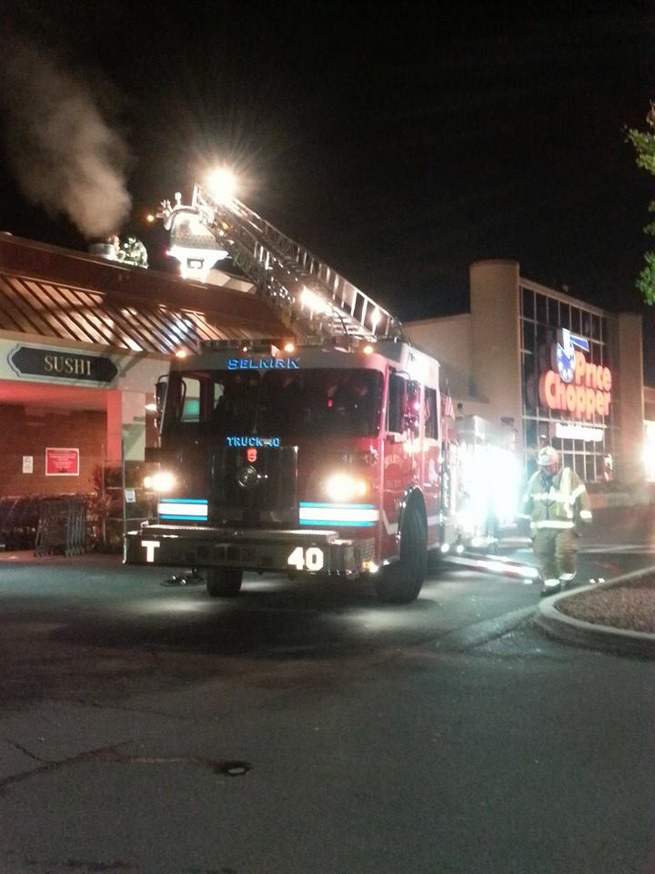 Selkirk FD Responds To Structure Fire Call At Glenmont Price Chopper