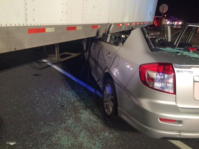 Selkirk FD Responds To MVA – Car Pinned Under Tractor Trailer
