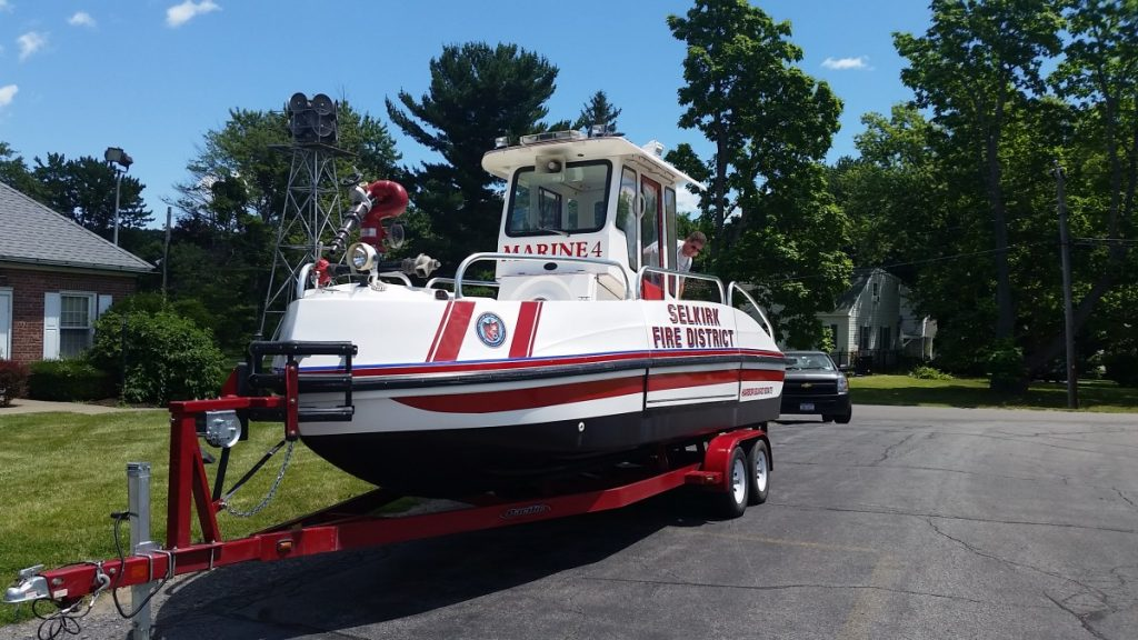 Selkirk FD Acquires Former Troy FD Marine-1 Fire Boat