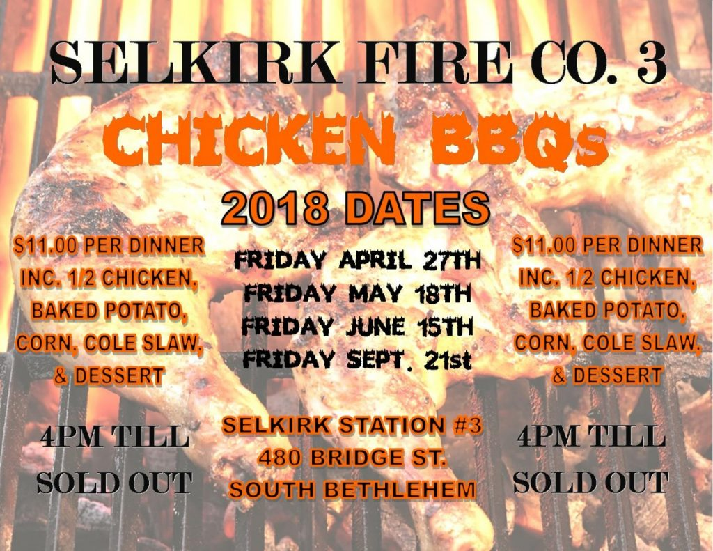 Selkirk Fire Co. 3 Annual Chicken BBQs